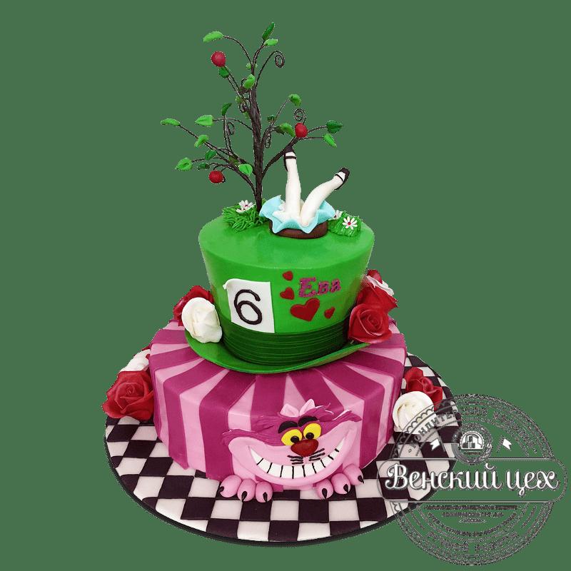 """Торт на день рождения """"Алиса в стране чудес"""" №1690"""