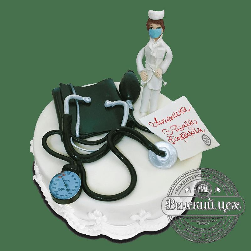 """Торт на день рождения """"Милый доктор"""" №1703"""