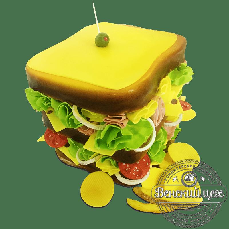 """Торт на праздник """"Сэндвич"""" №1719"""