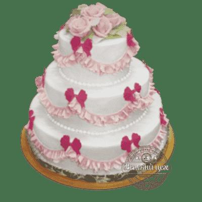 "Торт на свадьбу ""В сердце моем"" №172"