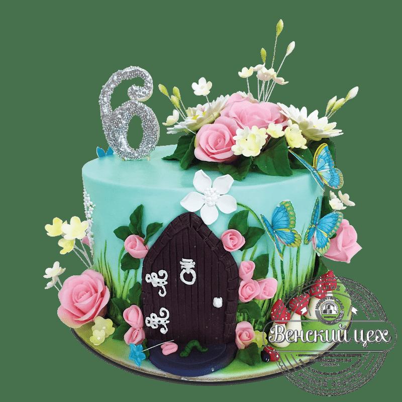 """Торт детский """"Потайная дверь"""" №1727"""