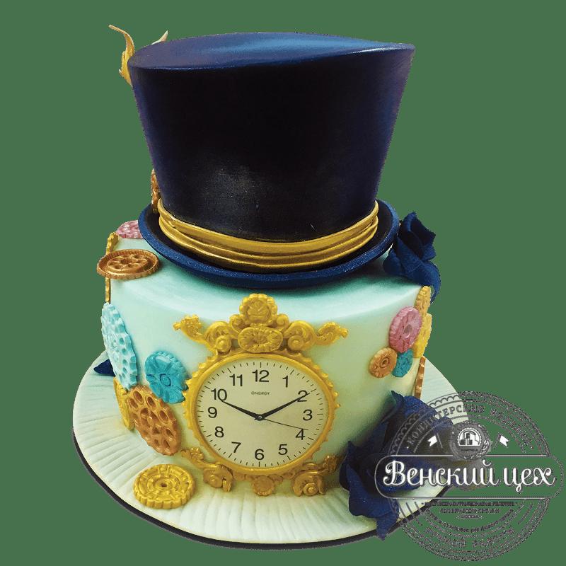 """Торт на день рождения """"Оболваненный шляпник"""" №1736"""