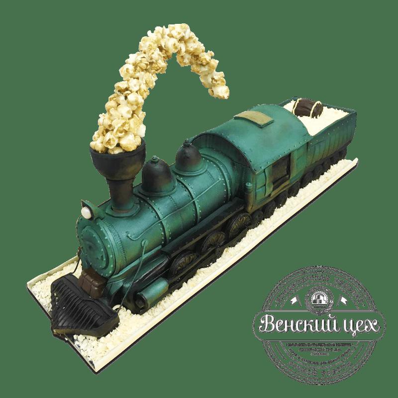 """Торт на день рождения """"Паровоз №17"""" №1741"""