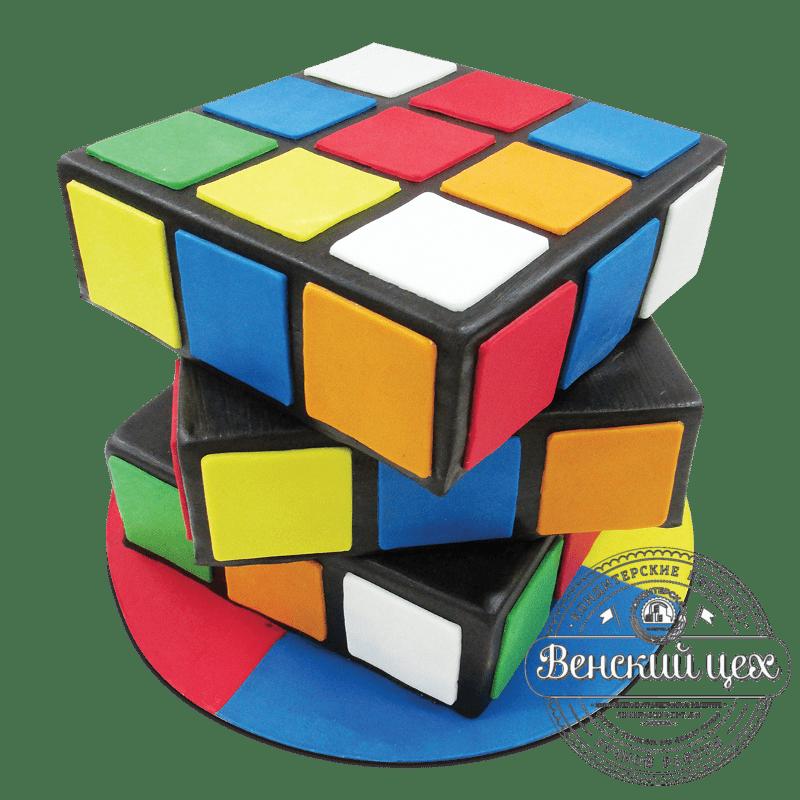 """Торт на день рождения """"Кубик Рубика"""" №1746"""