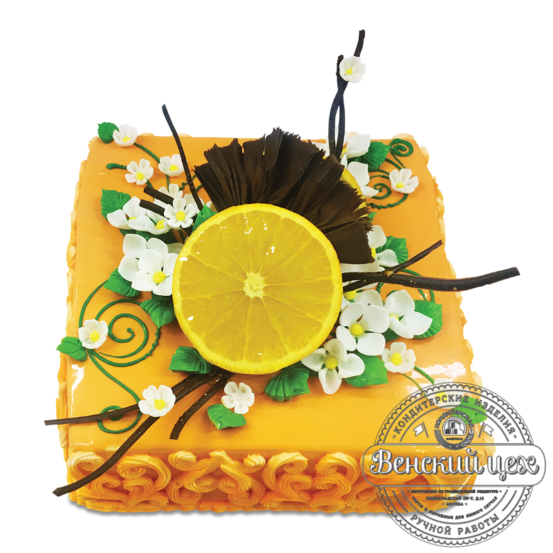 """Торт на день рождения """"Апельсин"""" №1748"""