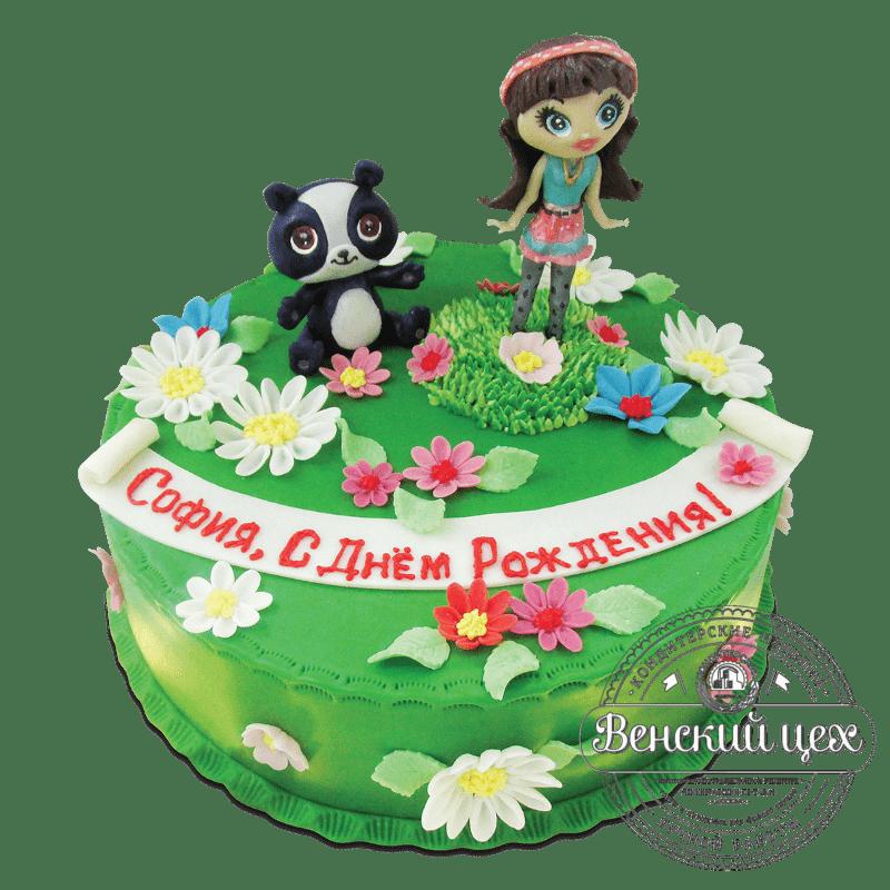"Торт детский ""Девочка и панда"" №1756"