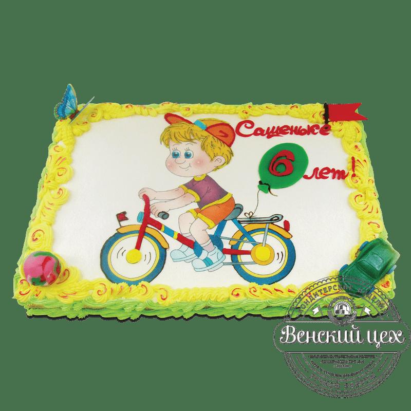 """Торт детский """"Юный велосипедист"""" №1760"""