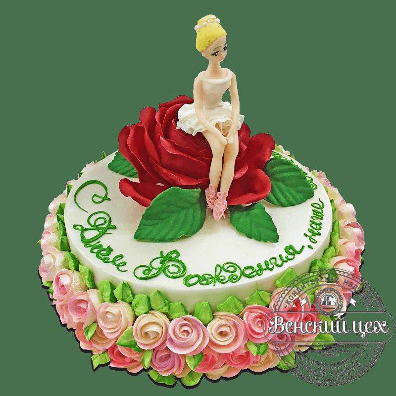 """Торт на день рождения """"Балерина"""" №1786"""