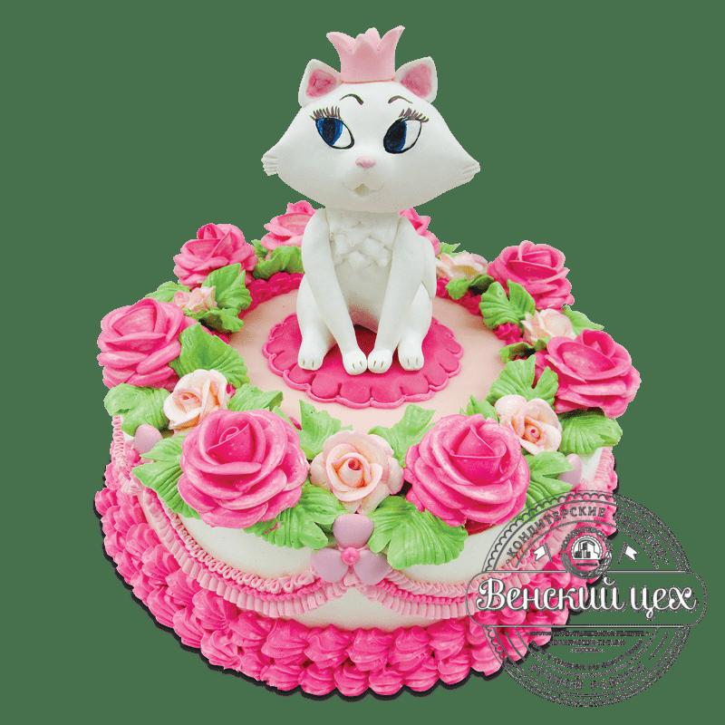 "Торт детский ""Кошечка-принцесса"" №1792"