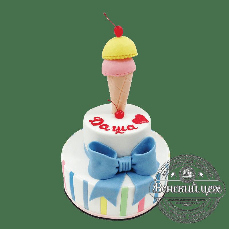 """Торт на день рождения """"Мороженое"""" №1795"""