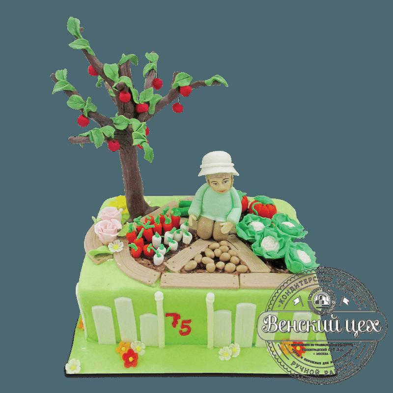 """Торт на день рождения """"Огород"""" №1796"""