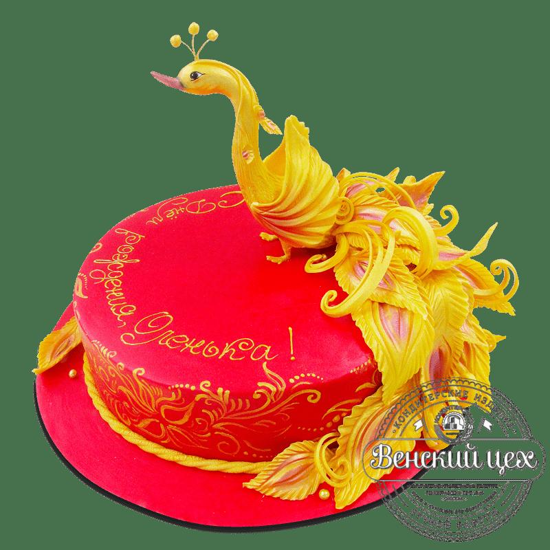 """Торт на день рождения """"Жар-птица"""" №1818"""