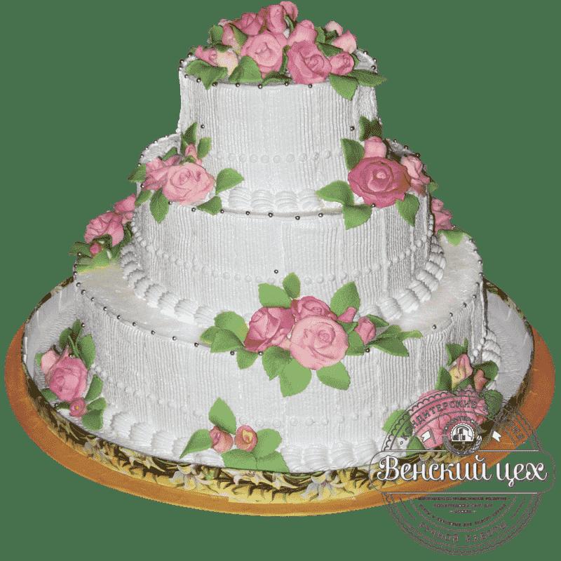 "Торт на свадьбу ""Букет из роз"" №182"