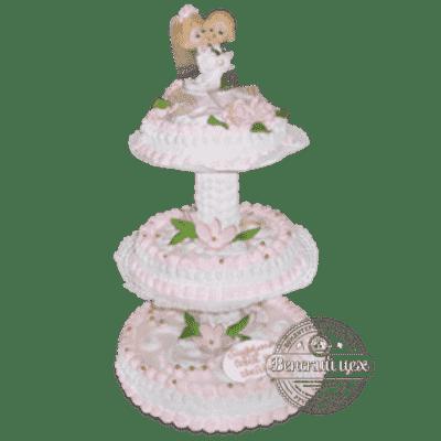 """Торт на свадьбу """"Нежный поцелуй"""" №183"""