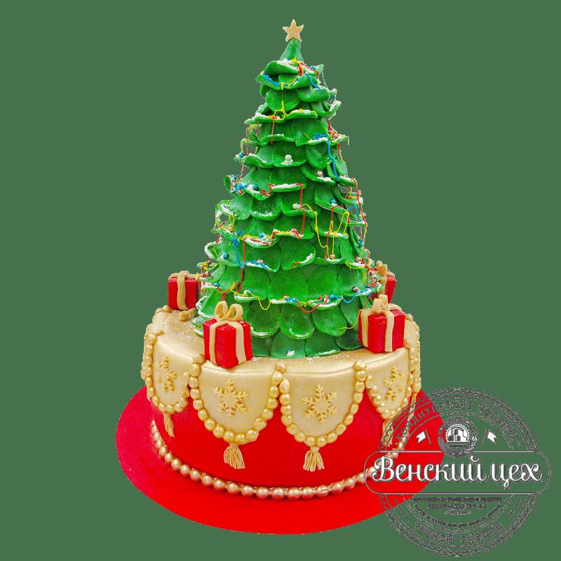 """Торт на Новый год """"Елка"""" №1844"""