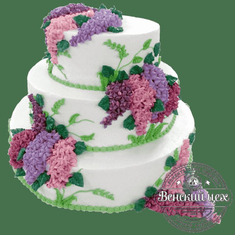 """Торт на свадьбу """"Букет сирени"""" №185"""