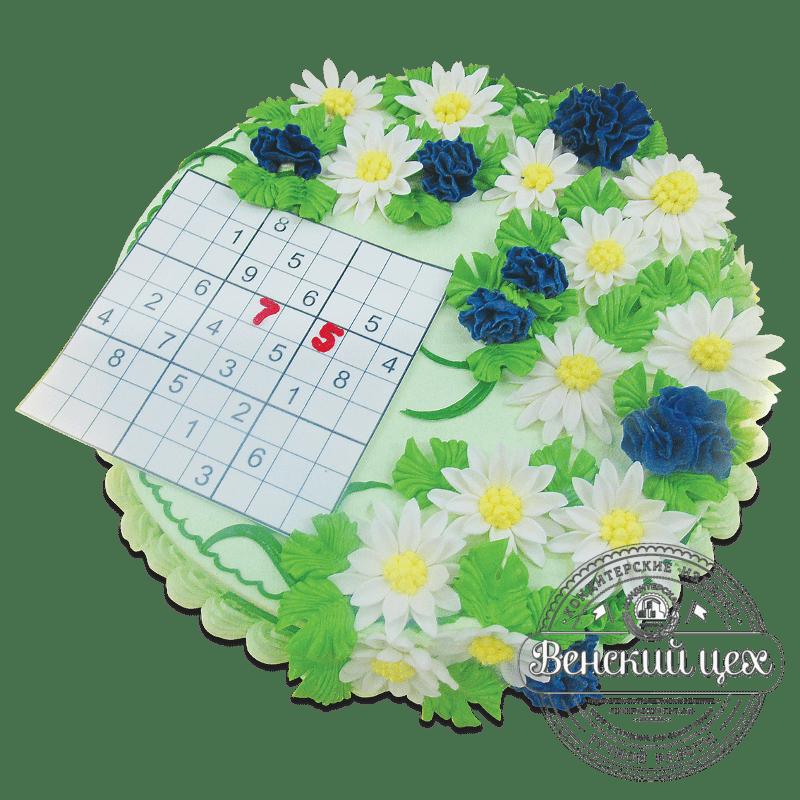 """Торт на день рождения """"Судоку"""" №1860"""