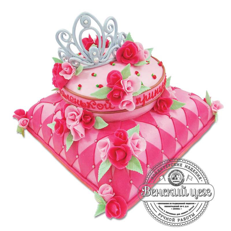 """Торт детский """"Корона на подушке"""" №1862"""