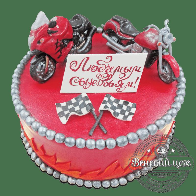 """Торт на день рождения """"Байкеру"""" №1866"""