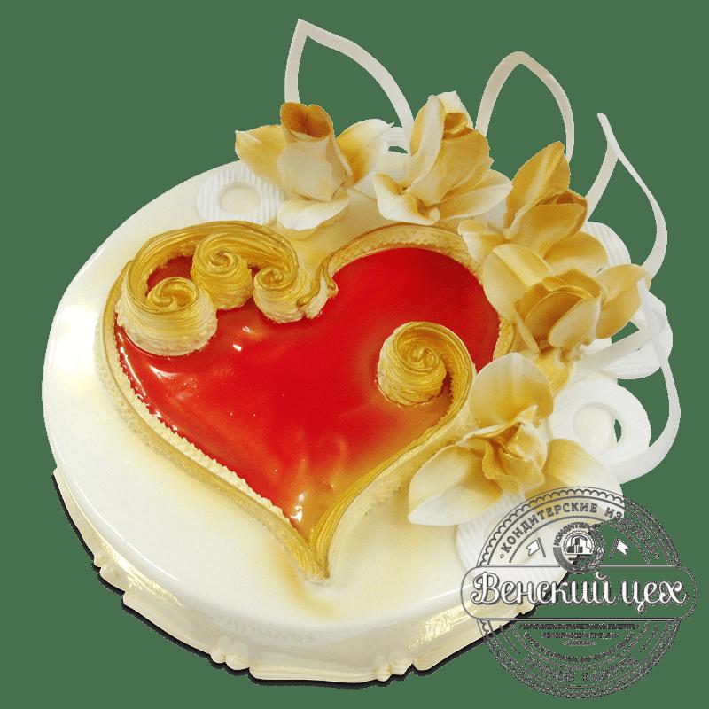 """Торт на праздник """"Алое сердце"""" №1875"""