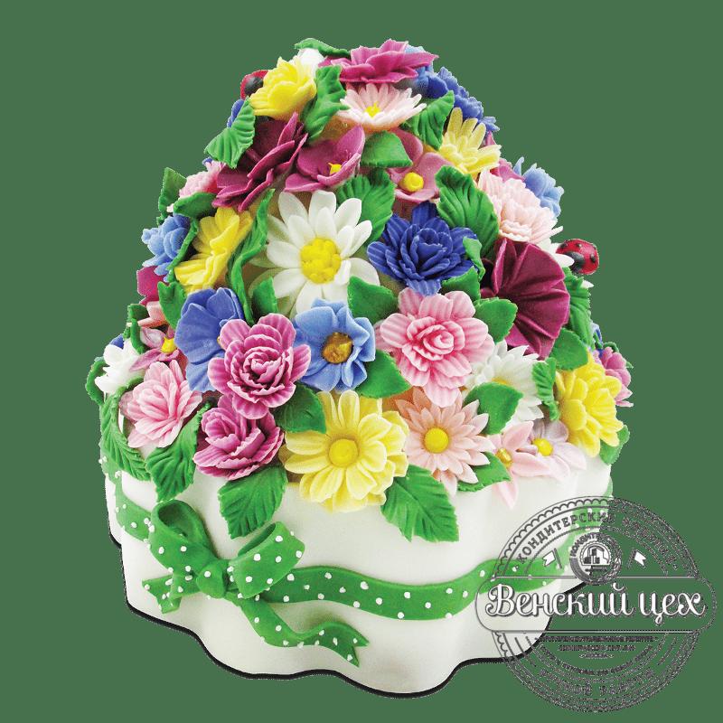 """Торт на день рождения """"Букет полевых цветов"""" №1876"""