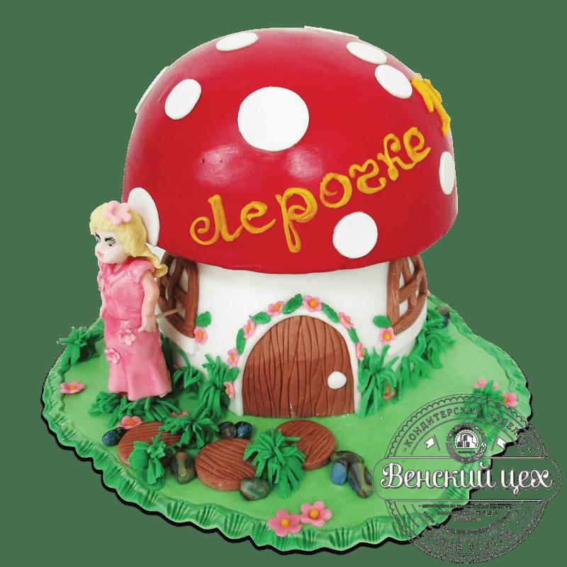 """Торт детский """"Грибной домик"""" №1881"""