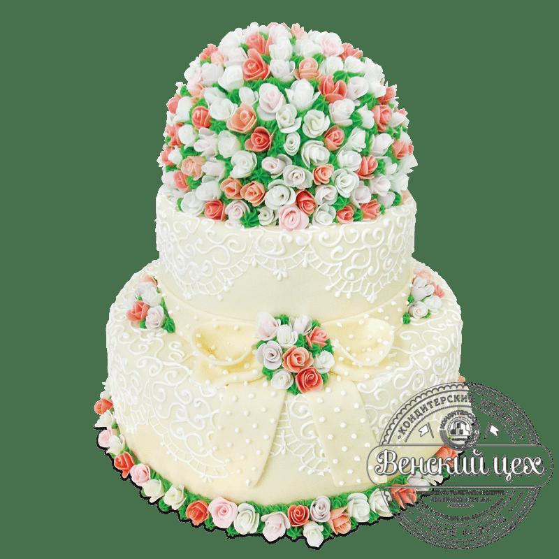 Торт свадебный №1884