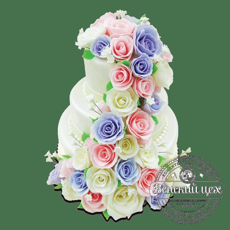 Торт свадебный №1900