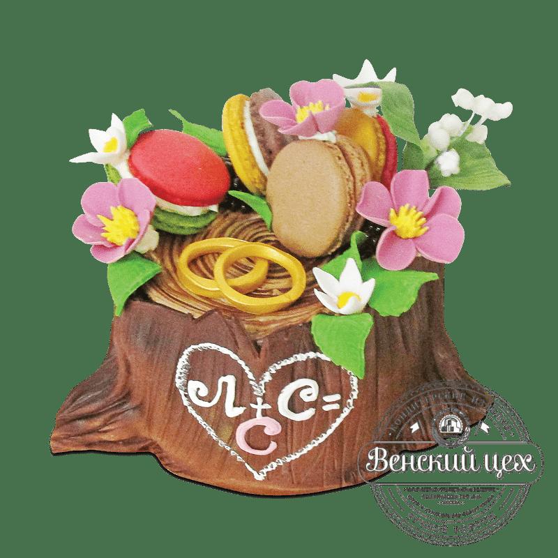 """Торт свадебный """"Любовный пенек"""" №1906"""
