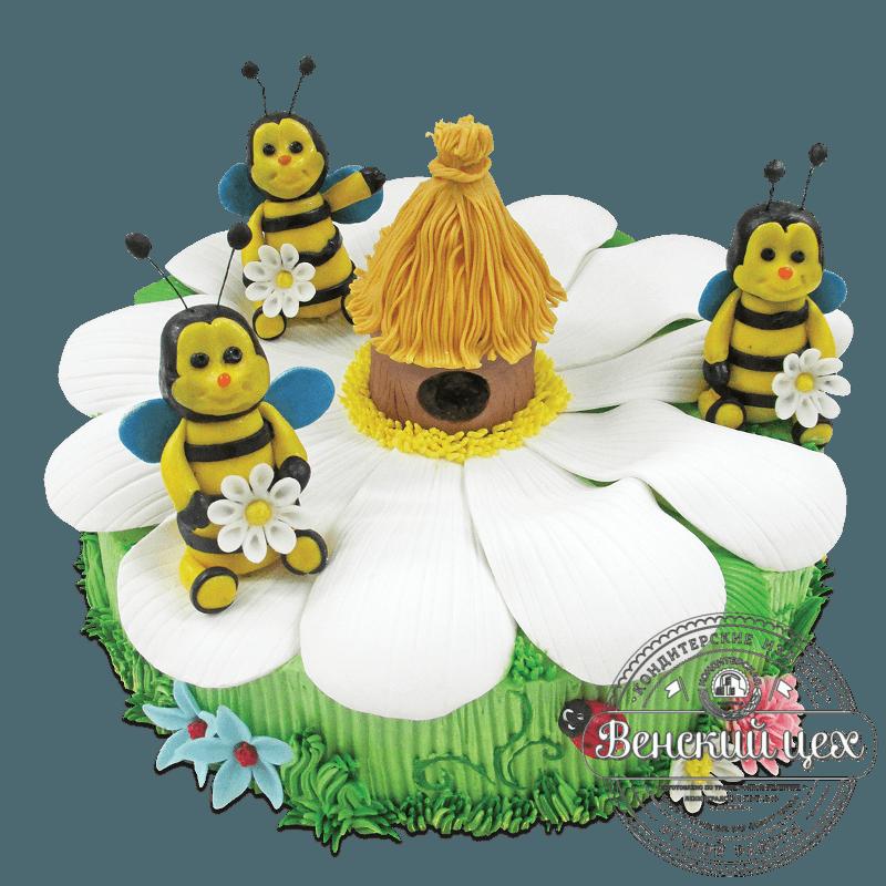 """Торт детский """"Пчелиный домик"""" №1924"""