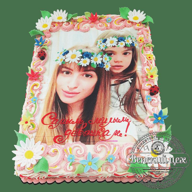 """Торт на день рождения """"Маме и дочке"""" №1928"""