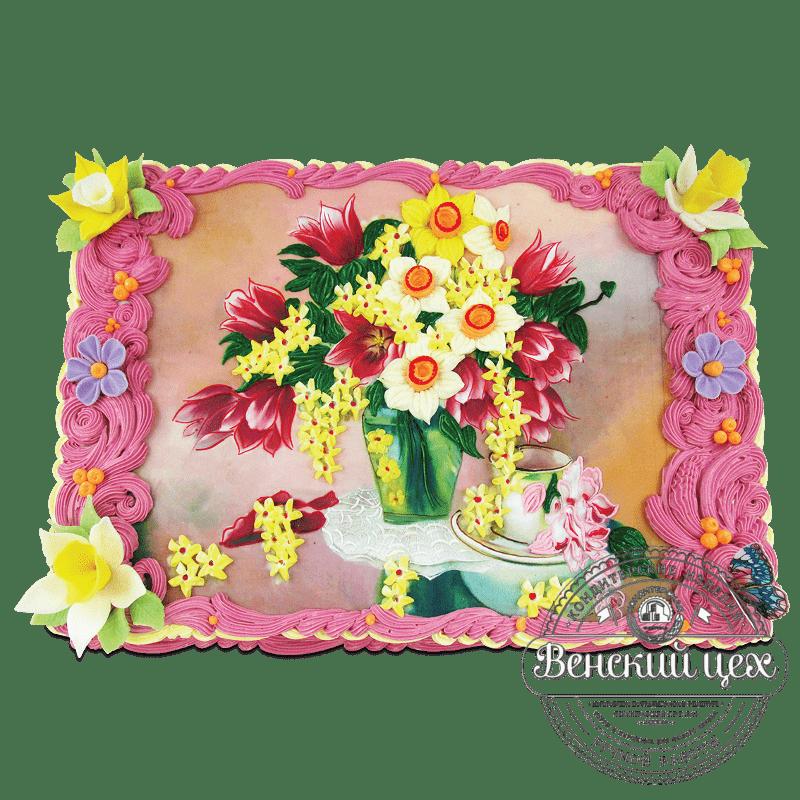 """Торт на праздник """"Натюрморт"""" №1930"""