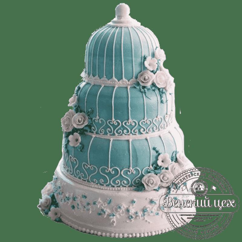 """Торт на свадьбу """"Клетка для птицы"""" №194"""