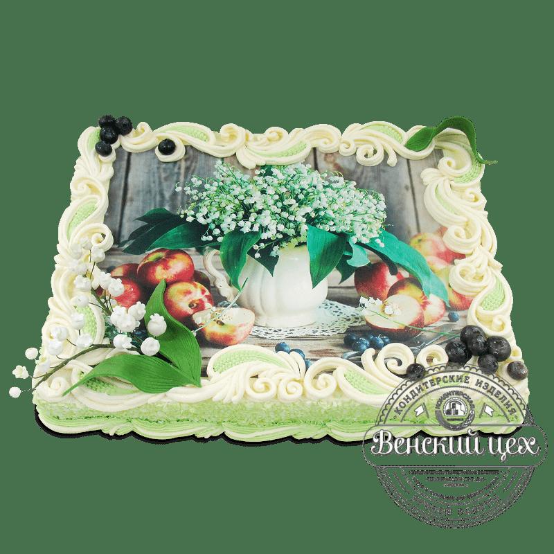 """Торт на день рождения """"Ландыши"""" №1942"""