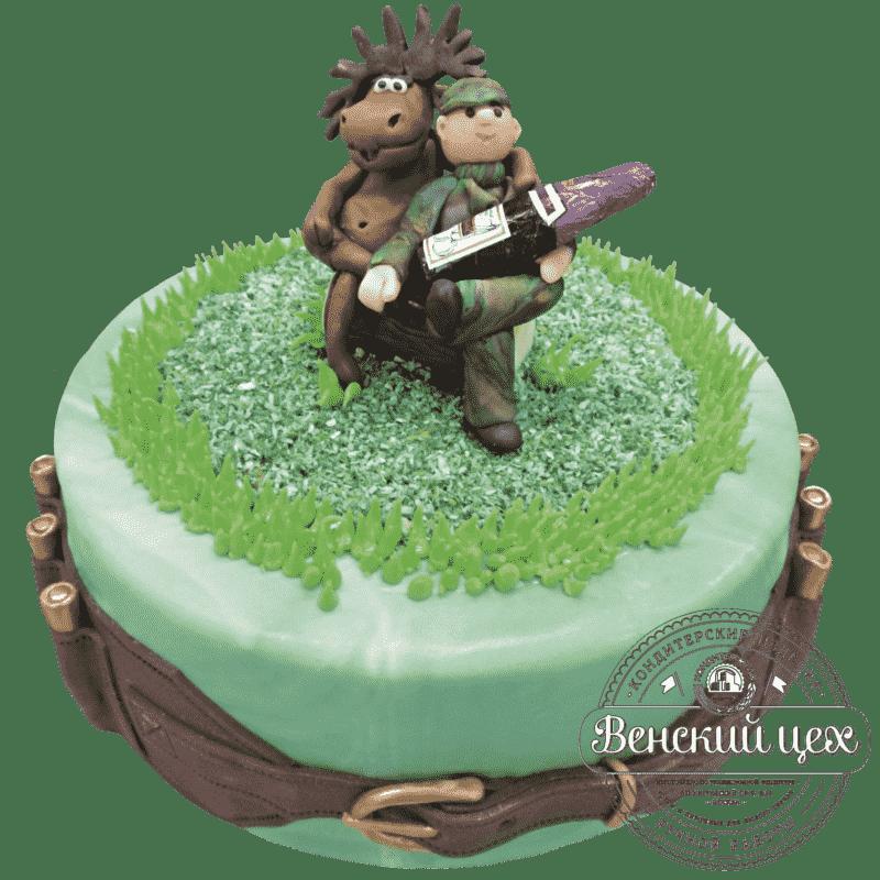 """Торт на день рождения """"Охотник на привале"""" №199"""