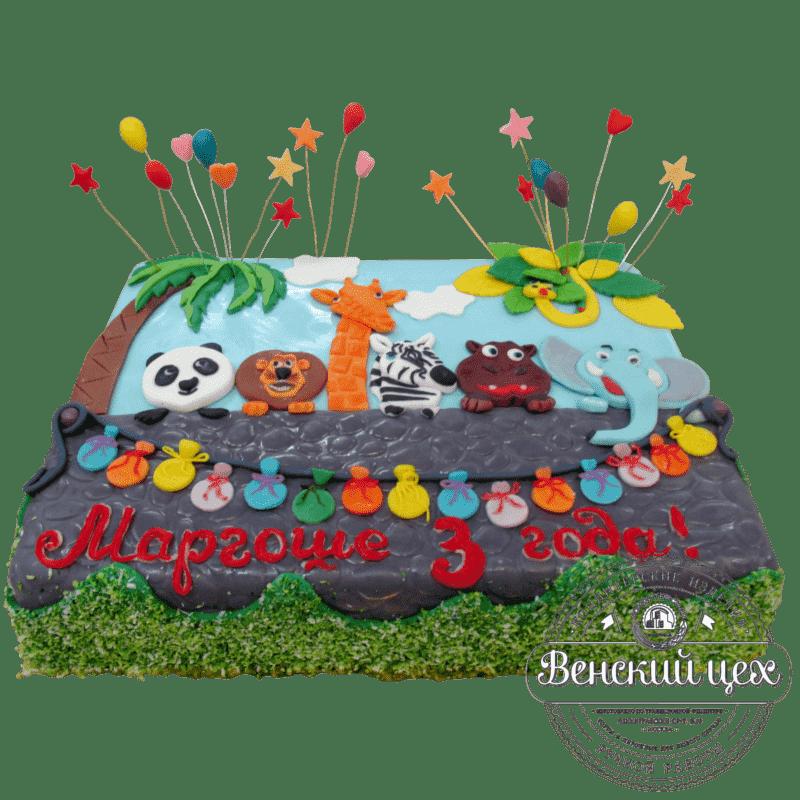 Торт детский «Зоопарк» №38