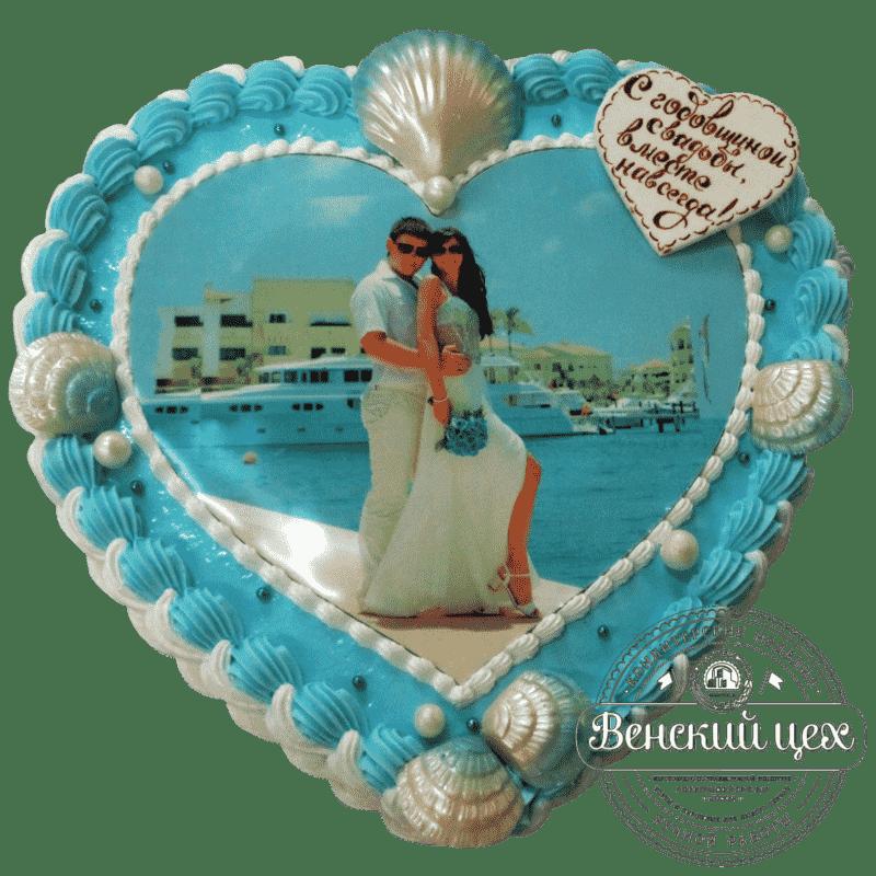 """Торт на годовщину """"Свадебная фотография"""" №2"""