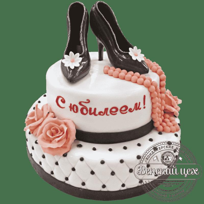 """Торт на юбилей """"Туфельки"""" №201"""