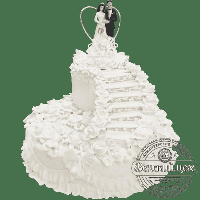 """Торт свадебный """"Лестница в небо"""" №204"""