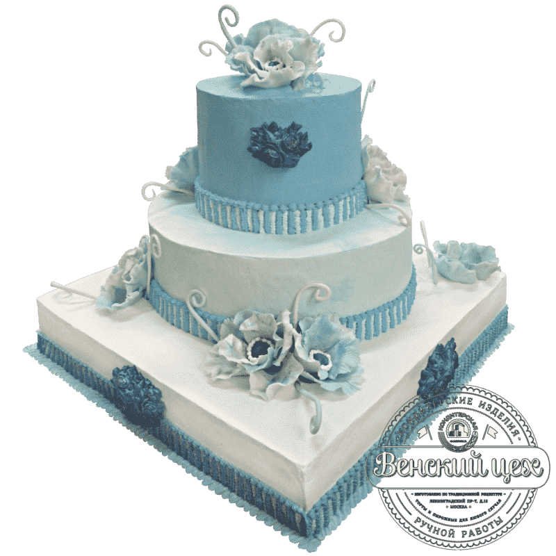 "Торт свадебный ""Хрустальные цветы"" №205"