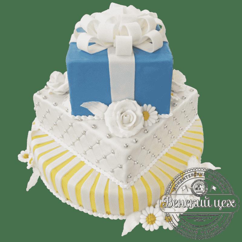 """Торт на свадьбу """"Свадебный подарок"""" №206"""