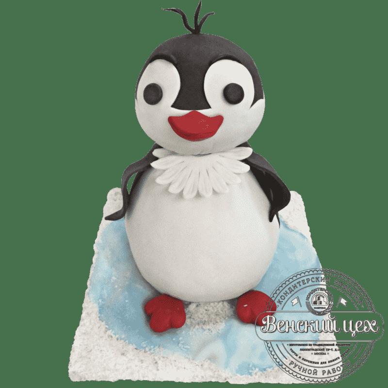 """Торт детский на 1 годик  """"Пингвиненок"""" №211"""