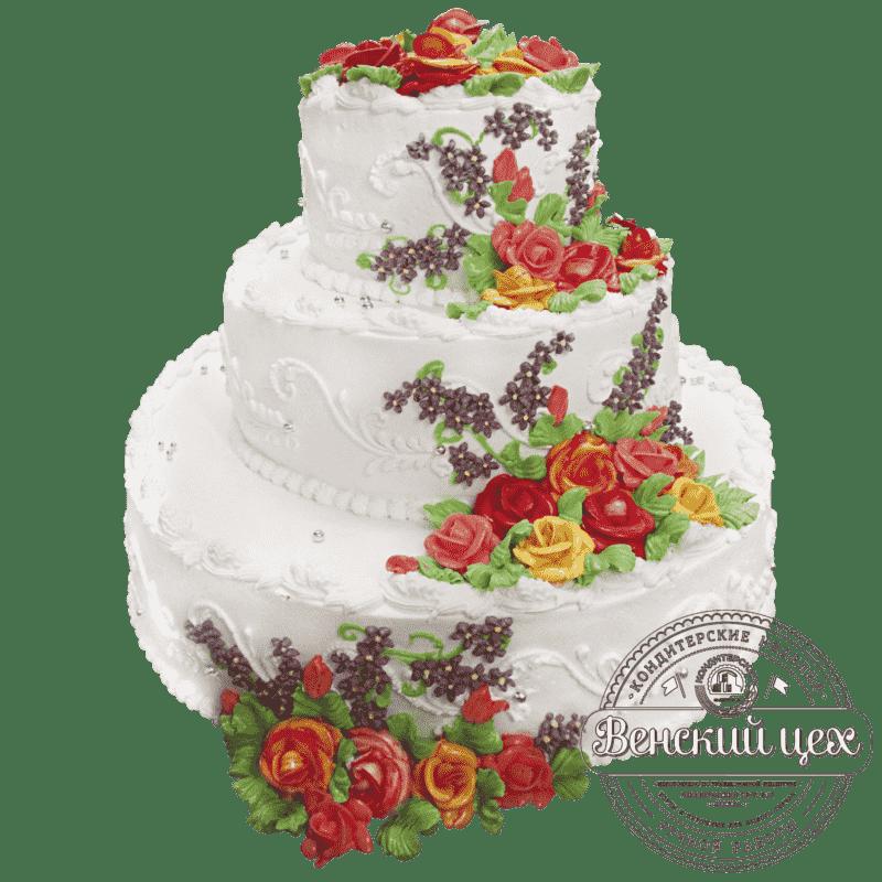 """Торт свадебный """"Красочный букет"""" №212"""
