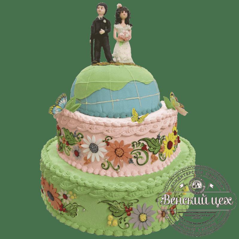 """Торт на свадьбу """"Вместе навсегда"""" №221"""