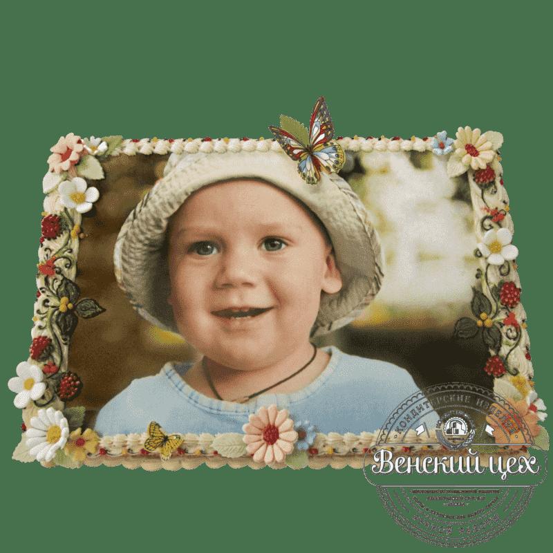 """Детский торт на день рождения """"Портрет малыша"""" №223"""