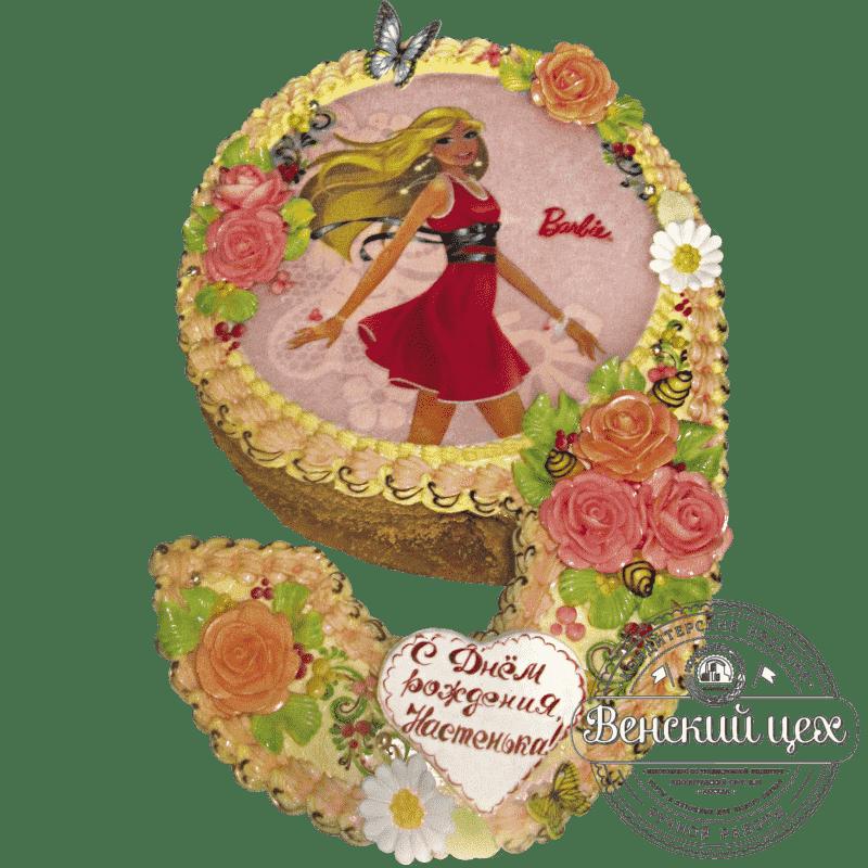 """Торт детский для девочки """"Барби"""" №225"""