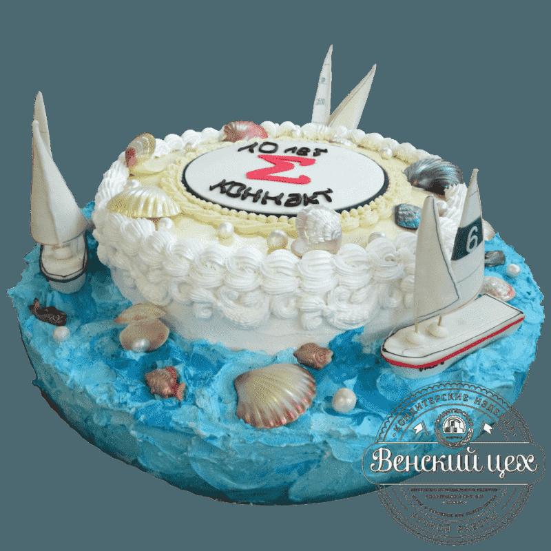 """Торт на корпоратив """"Белеет парус одинокий"""" №23"""