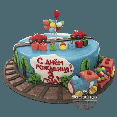 """Детский торт на день рождения """"Скорый поезд"""" №230"""
