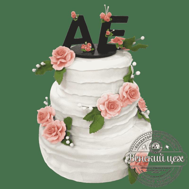 """Торт на свадьбу """"Ты и Я"""" №245"""
