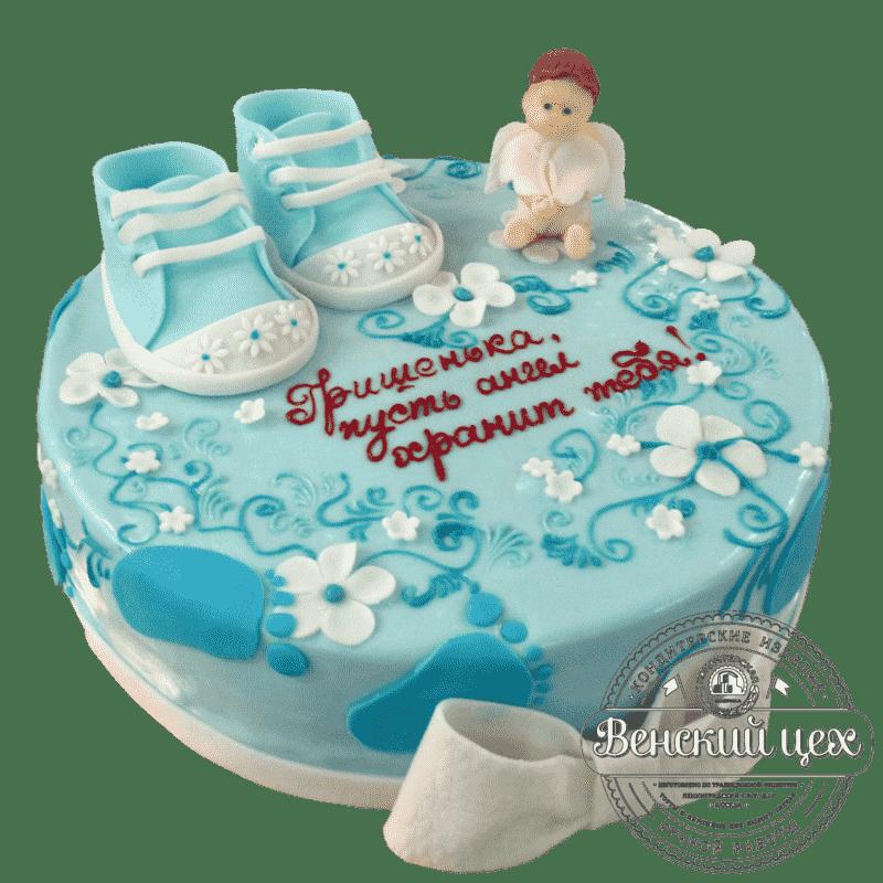 """Торт детский """"Подарок на крестины""""  №250"""
